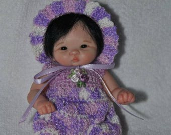 Crochet romper set for your mini baby ooak 5""