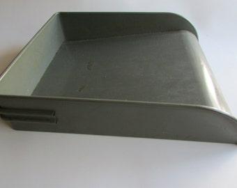 Metal Office Desk File Holder Globe Wernicke Desk Accessory Metal Desk Tray  Vintage Office Tray Gun
