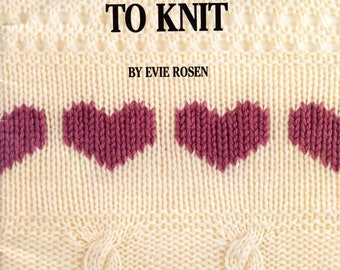 Leisure Arts The All New Teach Yourself To Knit Evie Rosen How to Knit and Purl Knitting Basics Pattern Book Leaflet 623