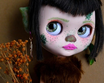 Custom blythe doll, art doll, Girl in natura