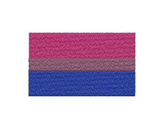 Machine Embroidery Design Instant Download - Bisexual Pride Flag