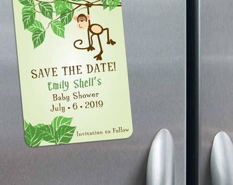 Going Bananas - Baby Shower Save the Date Magnets + Envelopes