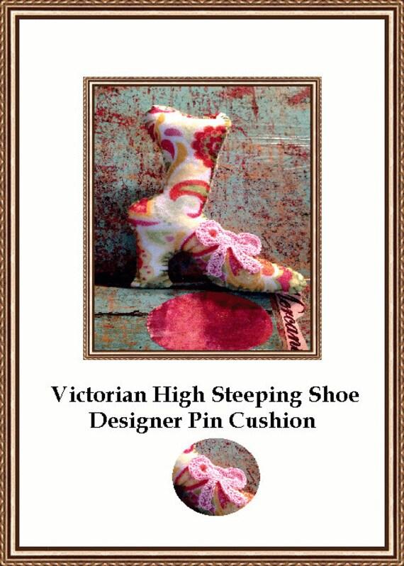 High Steeping Victorian Floral Pincushion