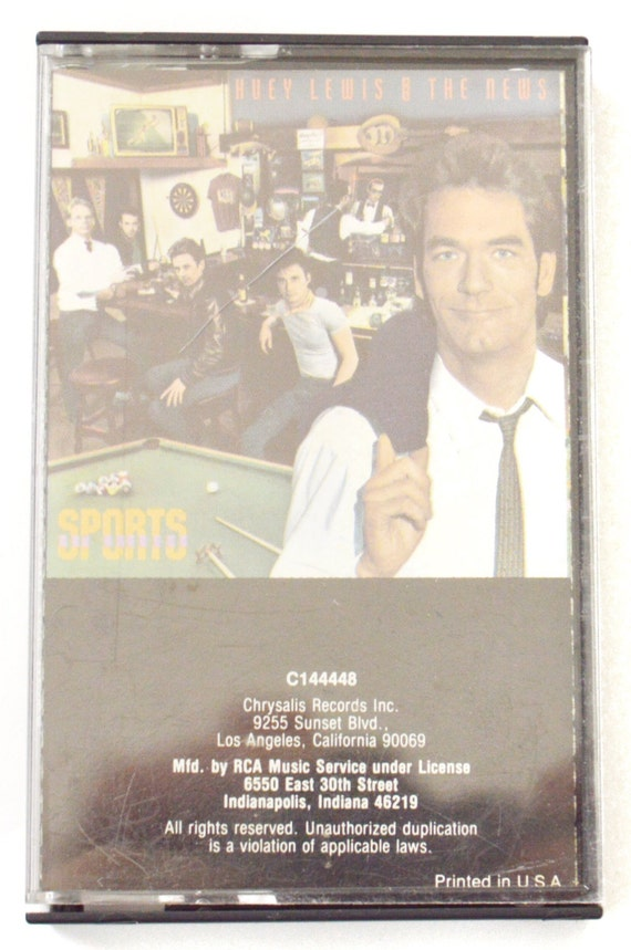 Vintage 80s Huey Lewis and The News Sports Album Cassette Tape