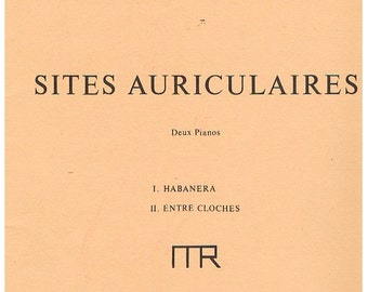 "Ravel- Four Hands/Two Pianos -""Sites Auriculaires""  two pieces ""Habanera"" and Entre Cloches"" 1975 near mint"