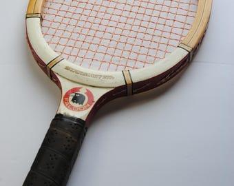 Vintage Falcon Wood Racketball Racket/Starmaster/Summer Fun/Made in Japan