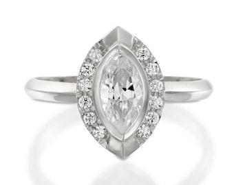 Marquise engagement ring, unique diamond engagement ring, marquise cut diamond, Marquise diamond engagement ring, diamond gold ring, bling.