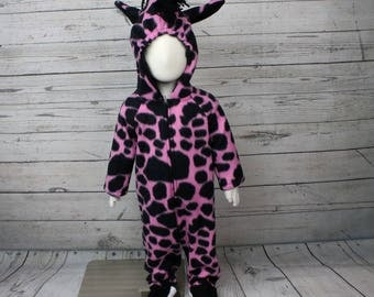 Pink Giraffe Costume Size 12M, 12M Animal Costume, 12M Giraffe Outfit, 12M Pink Giraffe Costume, Pink Giraffe Baby Outfit
