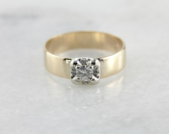 Two Tone Gold Diamond Engagement and/or Wedding Band HR2HK7-N
