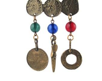 King George V Emperor Brooch/ One Quarter Anna India 1918 Coin Brooch / British India Replica 1 Pice Coin Pin /Mumbai Calcutta Brooch