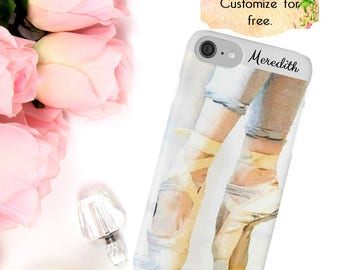 Ballet Dance iPhone Case, En Pointe Phone Case, Gift for Ballerina, Custom Phone Wallet, iPhone 6 7 Plus, Samsung Galaxy Case, Dancer Gift