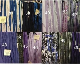 Blue/Purple Ruffle Scarfs Group 4
