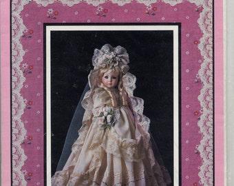 Dollmaker Patterns, Victorian Bride 19 inch doll clothes pattern, Pattern 101, 1987