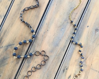 Aromatherapy / Necklace-Bracelet / Wrap Bracelet / Lava Rock Jewelry