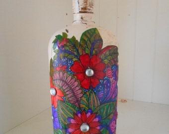 Altered Bottle with Original Artwork