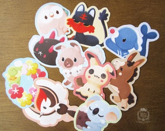 Pokemon Cuties Stickers (alola edition)