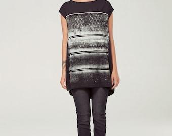 VOIE LACTÉE oversize t-shirt with silkscreen