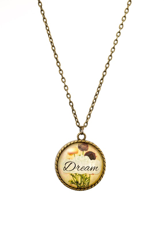 FREE SHIPPING - **NEW** Dream 30mm Bronze Lace Necklace - Unique - Vintage - Gorgeous Gift - Love