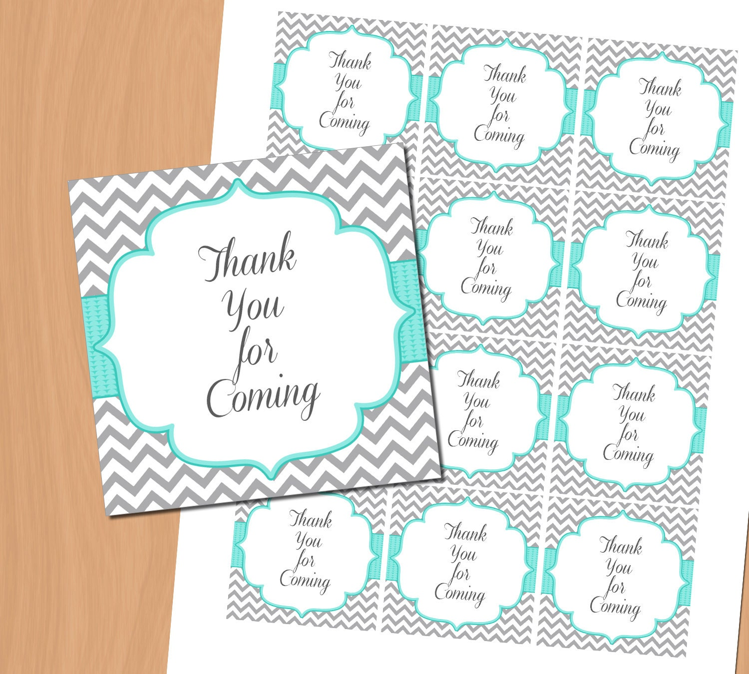Baby Shower Favors Tags Thank You For Coming Tags Printable