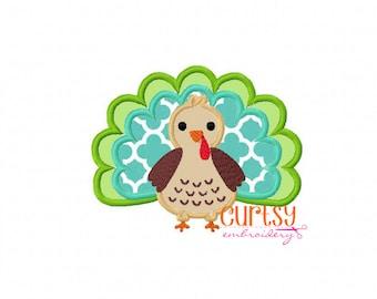 Turkey Applique Design, Turkey Embroidery Design, Thanksgiving Applique Design, Thanksgiving Embroidery Design