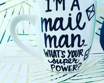 Best Mailman Ever- Coffee Mug- Gifts for postal worker- mail people-mail carrier gift-gifts for your mailman mailman super power mail person