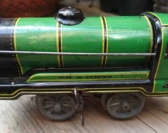 Vintage clockwork train engine