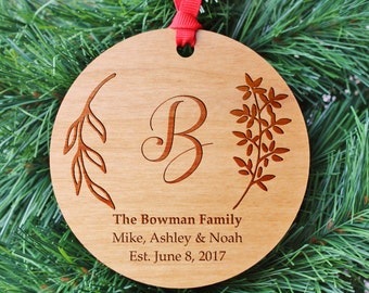 SHIPS FAST, Engraved Family Ornament, Personalized Christmas Ornaments, Holiday Ornaments Gift, Stocking Stuffers, Christmas Gifts, ORN31