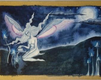 Moon Magic Original Watercolour Painting