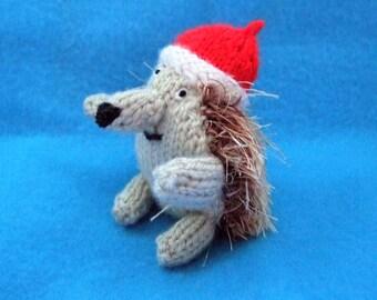 Knitted Christmas hedgehog