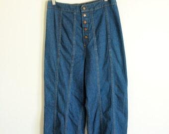 SALE wideleg 1970s jeans
