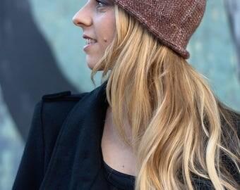 Bella brimmed cloche Hat PDF knitting pattern (instructions)