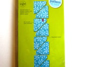 """ACCUQUILT GO! Fabric Cutting Die Half Square 1"""" Cuts Eight Shapes UNOPENED Package"""