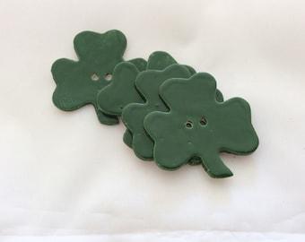 Ceramic Buttons - Clover Buttons - St. Patty's Day Buttons - Shamrock Buttons