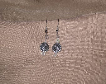 Swirly Sun Charm Earrings