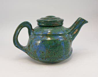 handmade teapot Stoneware 3 cup teapot food safe lead free Glaze Made to order