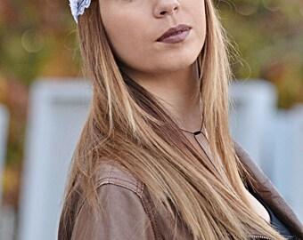 Lace Headband, White Headband, Wedding Headband, Elegant Headband, Bridesmaid Headbands, Womens Turbans, Womens Headbands, Vintage Headbands