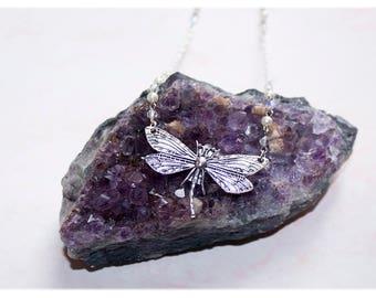 Dragonfly Necklace, Jewelry Gift, Fairy Jewelry, Silver Dragonfly Pendant,Dragonfly Jewelry, Wedding Jewelry, Bride Jewelry, Dragonflies