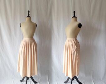 peach silk skirt