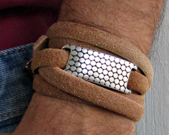 Distressed, Mens Leather Wrap Bracelet, Mens, For Men, Boyfriend, Gift, For Husband, Gift for Men, For Him, Boyfriend Gift, Christmas Gift