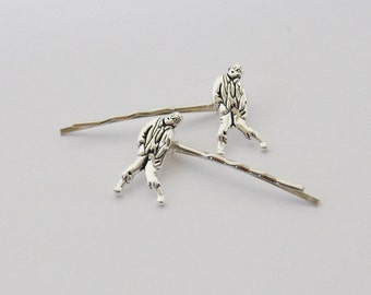 Zombies, Zombie Hair Accessories, Zombie Hair Clips, Zombie Gifts, Silver Zombie Bobby Pins, Zombie Jewelry, Apocalypse, Geekery, Geek gift