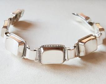 Vintage silver bracelet, Ceson, Sweden. 1960 (F760)