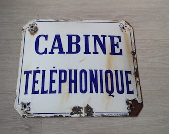French Enamel Sign, Public Street Sign, Antique Sign, French Sign, French Street Sign, Antique Enamel Sign, Old Industrial Sign, Loft Decor