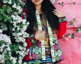 Paragon Desert Bolivian Aguayo Embroidered Printed Festival Funky Cool Jacket