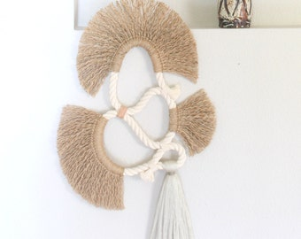"""Wall Hanging """"LOOP no.12""""  One of a kind Handcrafted Macrame/Rope art"""