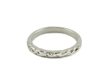 Silver Rope Midi Ring