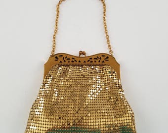 Whiting & Davis Gold Mesh Handbag  #39