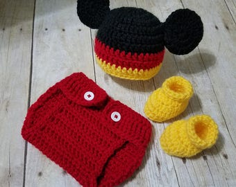 Crochet Baby Outfit - Crochet Baby Set - Newborn Outfit - Crochet Newborn Prop - Baby Photo Prop