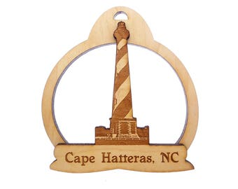 Cape Hatteras Lighthouse Ornament- Outer Banks North Carolina Souvenirs - Wooden Lighthouse - Outer Banks Lighthouse