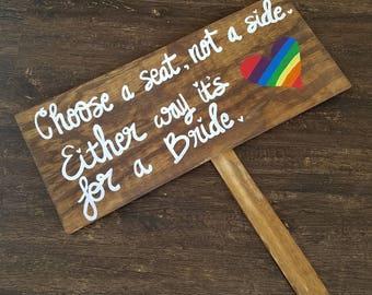 Lesbian Wedding Sign, Lesbian Wedding Decor, Lgbt Wedding, Marriage  Equality, Gay Wedding