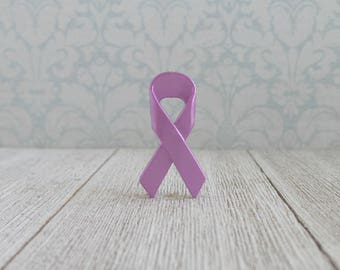 Purple Awareness Ribbon - Hodgkin's Disease - March of Dimes - Alzheimer's - Testicular Cancer - Lapel Pin
